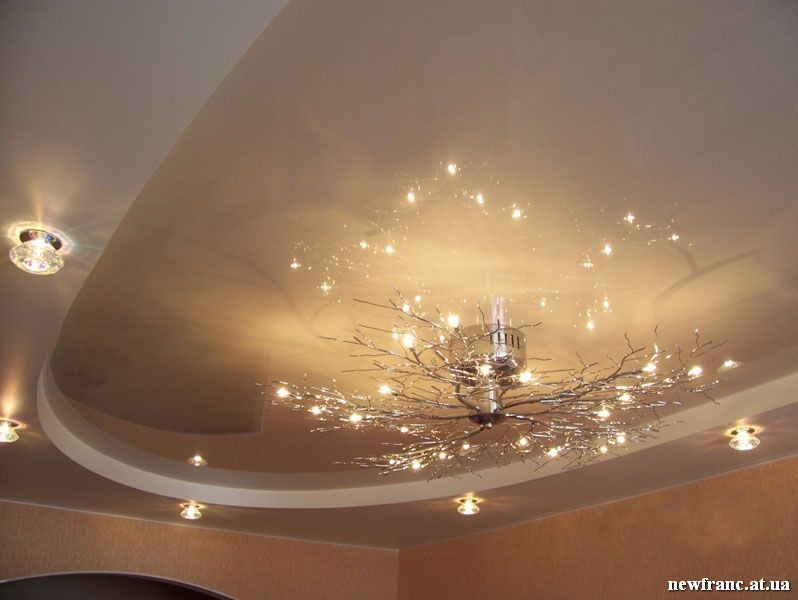 Самые красивые натяжные потолки фото